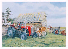 Tasty Tyres Beautiful Picture Painting Old Farm Tractor Poster Trevor Mitchell