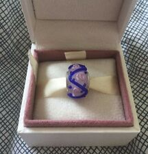 New Handmade pink, purple & blue charm - European charm bead bracelet