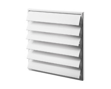 "Air Vent Grille Cover 6 Gravity Flaps 250x250mm (10x10"") WHITE Grill Wall MV250J"