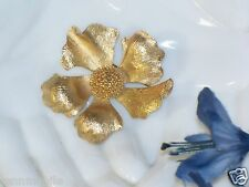 Vintage signed Marcel BOUCHER French FLOWER PIN France