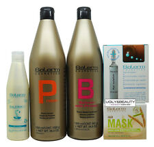 Salerm Protein Shampoo&Conditioner + Wheat Germ Mask + 21 Leave-In + Revitalizer