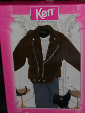 1995 KEN BIKER BROWN JACKET, JEANS, SHADES & BOOTS FASHION AVENUE OUTFIT!!BARBIE