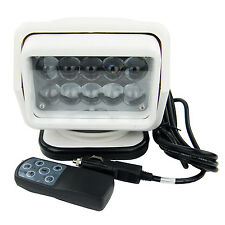 50W CREE LED Remote Control Searchlight Truck Boat Car Marine Wireless Spotlight
