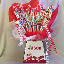 KINDER SWEET CHOCOLATE BOUQUET HAMPER (PERSONALISED + PHOTO QUALITY FRONT !)