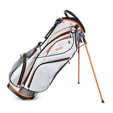 Sahara Gobi Golf Stand Bag White/Gray/Orange - New!