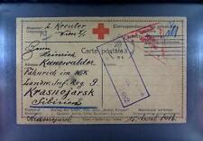 Camp 1916 Russia Siberia POW Kriegsgefangenenpost Rotes Kreuz Red Cross 188