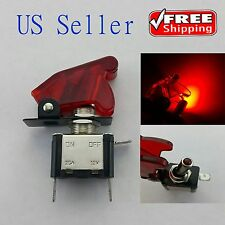 1x Red 12V 20A Car Auto Cover LED Light SPST Toggle Rocker Switch Control On/Off