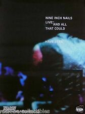 Nine Inch Nails NIN 2002 All That Cold Have Been Live Poster Original