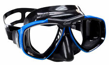 Cressi Sub Focus 2 Lens Scuba Diving Silicone Mask Made in Italy Blue with Black