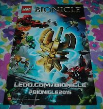 "LEGO Bionicle Pohatu Master of Stone Poster Double Sided 17"" NYCC 2014 NEW"