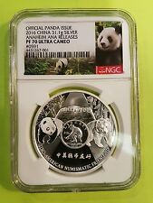 CHINA  2016 Official  PANDA  Issued  NGC  PF 70  ANA Releases 1  oz Silver