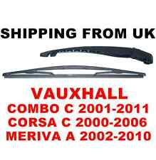 REAR WINDOW WIPER ARM & BLADE KIT SET VAUXHALL CORSA C MK2 COMBO C MERIVA A MK1
