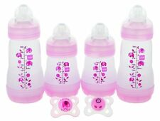 Baby Bottles Feeding Milk Drink Gift Set Girl 4 Anit Colic Portable Home Bed Car