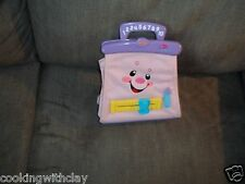FISHER PRICE TALKING SINGING HAND BAG PURSE W/ ACCESSORIES MONEY LIPSTICK MORE