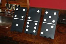 "DOMINOES Wall Art - Home Decor - Carved from Wood - 3 Pieces  10"" x  5"""