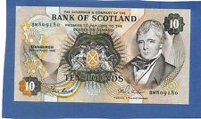 Scottish Bank of Scotland 10 Pounds Banknote 1986
