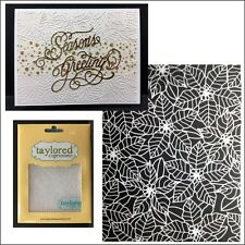 Christmas embossing folders - PEACEFUL POINSETTIA folder Taylored Expressions