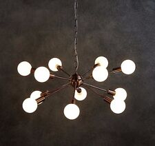Grand cuivre spoutnik plafond pendentif light chandelier design industriel + ampoules