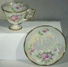 VTG ANTIQUE AUGUST POPPY TEA CUP AND SAUCER NORLEANS JAPAN