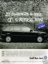 Publicité advertising 1996 VW Volkswagen Golf Bon Jovi