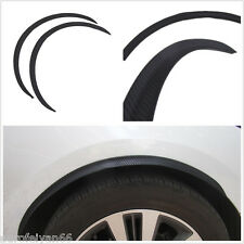 Black Carbon Fiber Autos Fender Flare Wheel Eyebrow Protector Anti-Scratch Decal