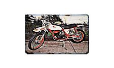 Cr250 Elsinore Motorbike Sign Metal Retro Aged Aluminium Bike