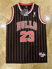 Nike Chicago Bulls Michael Jordan Throwback NBA Jersey Men's LARGE Retro Rare 23