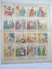 19009 Neuruppiner Bilderbogen die gestörte Kaffeegesellschaft Riemenschneider