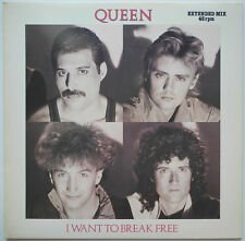 "★★12"" DE**QUEEN - I WANT TO BREAK FREE (EXTENDED MIX) (EMI '84)★★24297"