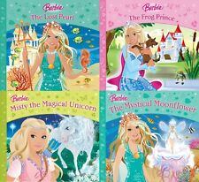 BARBIE __ 4 BOOK SET __ LOST PEARL FROG PRINCE MAGICAL UNICORN MOON __ BRAND NEW