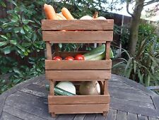 VEGETABLE STORAGE RACK/CRAFT/KITCHEN/PANTRY/3 TIER/HOBBY/TRADITIONAL/WOODEN