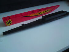 Lego Boat Hull Floating 48x6x5 - Red Hull & Black Deck x1 (Stickers on Left)