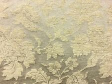 QUALITY TRADITIONAL FLORAL PALE GOLD DAMASK UPHOLSTERY CURTAIN FABRIC MATERIAL!