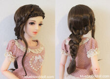 "1/3 bjd 8-9"" doll head brown long wig dollfie Luts Iplehouse W-JD255SM4L"