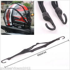 Motorcycle Helmet Fixed Storage Flexibility Resilient Black Rope For Motor Trike