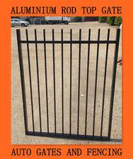 Aluminium Pedestrian Gate -  Rod Top Black Gate 970mm