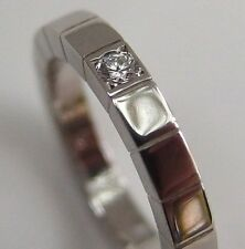 Cartier 18K White Gold Lanieres Ring 1PD Size USA 4.5-5 mint-condition