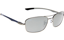 RAY-BAN RB 8309 004/82 Gunmetal Silver Sunglasses Authentic New! Carbon Fiber