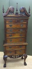 Chippendale Style Mahogany Highboy w Ball  Claw Feet Diminutive Note Small Size