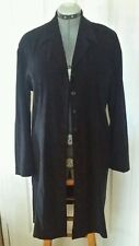 Marisol Suede-like Navy Dress. Button Front Can be used as Trench Coat.