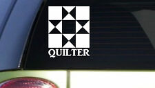Quilter 6 inch sticker decal *I101* quilt quilting needle square piece pattern