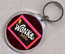 WONKA BAR round keyring  DOUBLE SIDED - Classic!