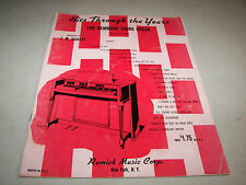 Hits Through The Years For Hammond Chord Organ Song Book