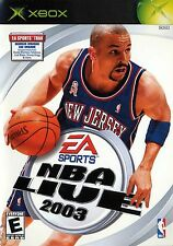XBOX NBA Live 2003 Video Game multiplayer basketball ea sports freestyle control