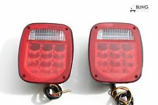 LED UNIVERSAL FIT STUD-MOUNT COMBINATION TAIL LIGHT SET FOR TRUCK TRAILER USE