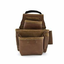 Style n Craft  98436 - 8 Pocket Nail & Tool Pouch in Top Grain Leather