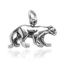 Panther Sterling Silver .925 Traditional Charm Lioness Big Cat Puma CMANPT03