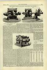 1884 Schukert Dynamo Electric Machine Vienna Exhibition