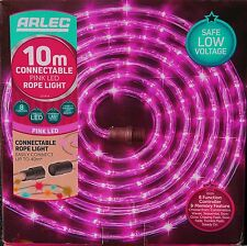10 Metre Pink Festive LED Light Rope Christmas Outdoor Connectable Multifunction