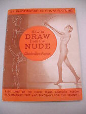 """1937 ARTIST HOW-TO: """"HOW TO DRAW FROM THE NUDE"""" BY CHARLES PROVOST!"""